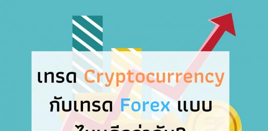 เทรด Cryptocurrency กับเทรด Forex